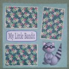 """My Little Bandit""-Premade Scrapbook Page 12x12"