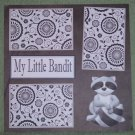"""My Little Bandit nw""-Premade Scrapbook Page 12x12"