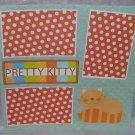 """Pretty Kitty km""-Premade Scrapbook Page 12x12"