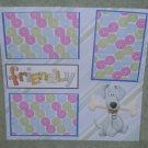 """""""Friendly Dog nw""""-Premade Scrapbook Page 12x12"""