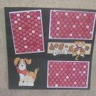 """Doggone Cute""-Premade Scrapbook Page 12x12"