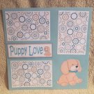 """Puppy Love""-Premade Scrapbook Page 12x12"