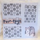 """""""Pawsitively Purrfect """"-Premade Scrapbook Page 12x12"""