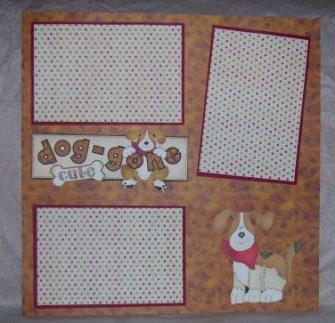 """Doggone Cute a""-Premade Scrapbook Page 12x12"