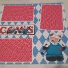 """Cows 3""-Premade Scrapbook Page 12x12"