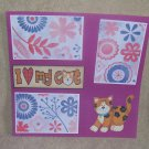"""I Love My Cat""-Premade Scrapbook Page 12x12"