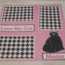 """Love My Cat""-Premade Scrapbook Page 12x12"