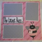 """The Latest Buzz 2a""-Premade Scrapbook Page 12x12"