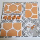 """""""Meow 1""""-Premade Scrapbook Page 12x12"""