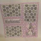 """""""Mischievous Cat""""-Premade Scrapbook Page 12x12"""