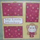 """My Little Monkey""-Premade Scrapbook Page 12x12"