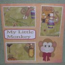 """My Little Monkey b""-Premade Scrapbook Page 12x12"