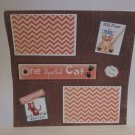 """One Spoiled Cat bl c""-Premade Scrapbook Page 12x12"