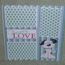 """Puppy Love 1 nw""-Premade Scrapbook Page 12x12"