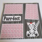 """Purrfect a""-Premade Scrapbook Page 12x12"