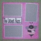 """The Latest Buzz 2""-Premade Scrapbook Page 12x12"