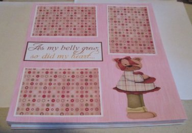 """As My Belly Grew""-Premade Scrapbook Page 12x12"