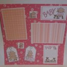 """Baby Girl c""-Premade Scrapbook Page 12x12"
