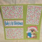 """Baby's 1st Christmas kw1""-Premade Scrapbook Page 12x12"