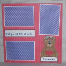 """Baby's 1st 4th of July Girl""-Premade Scrapbook Page 12x12"