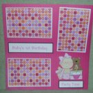 """Baby's 1st Birthday Girl""-Premade Scrapbook Page 12x12"