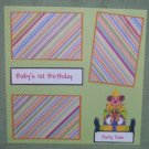 """Baby's 1st Birthday""-Premade Scrapbook Page 12x12"