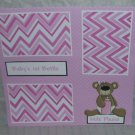 """""""Baby's 1st Bottle Girl""""-Premade Scrapbook Page 12x12"""