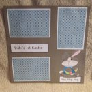 """""""Baby's 1st Easter Boy 1""""-Premade Scrapbook Page 12x12"""