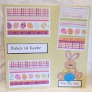 """Baby's 1st Easter Boy Bunny""-Premade Scrapbook Page 12x12"