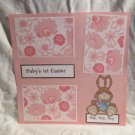 """Baby's 1st Easter Bunny""-Premade Scrapbook Page 12x12"