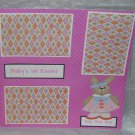 """Baby's 1st Easter Girl 2""-Premade Scrapbook Page 12x12"