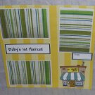 """""""Baby's 1st Haircut""""-Premade Scrapbook Page 12x12"""