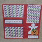 """Baby's 1st Halloween""-Premade Scrapbook Page 12x12"