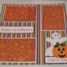 """""""Baby's 1st Halloween Ghost and Pumpkin""""-Premade Scrapbook Page 12x12"""