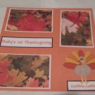 """Baby's 1st Thanksgiving""-Premade Scrapbook Page 12x12"
