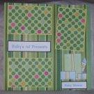 """Baby's 1st Present Boy""-Premade Scrapbook Page 12x12"