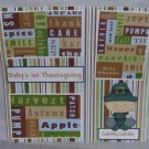 """Baby's 1st Thanksgiving Boy""-Premade Scrapbook Page 12x12"