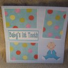 """Baby's 1st Tooth Boy""-Premade Scrapbook Page 12x12"
