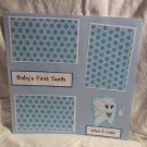 """""""Baby's 1st Tooth Tooth""""-Premade Scrapbook Page 12x12"""