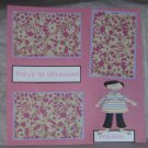 """""""Baby's 1st Ultrasound Girl""""-Premade Scrapbook Page 12x12"""