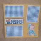 """Bubble Baby Boy""-Premade Scrapbook Page 12x12"