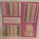 """Heaven Sent Me An Angel Girl""-Premade Scrapbook Page 12x12"