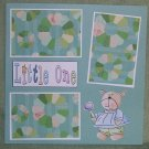 """Little One""-Premade Scrapbook Page 12x12"