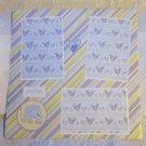 """""""Precious Boy Elephant 2a""""-Premade Scrapbook Page 12x12"""