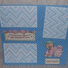 """Sent From Above Boy""-Premade Scrapbook Page 12x12"