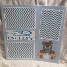 """""""Sweet Baby Boy""""-Premade Scrapbook Page 12x12"""