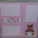 """Sweet Baby Girl""-Premade Scrapbook Page 12x12"