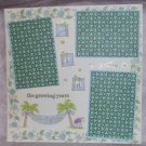 """The Growing Years""-Premade Scrapbook Page 12x12"