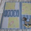 """Baby Boy Horse a""-Premade Scrapbook Page 12x12"