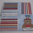 """Baby's 1st 4th of July Boy Bear""-Premade Scrapbook Page 12x12"